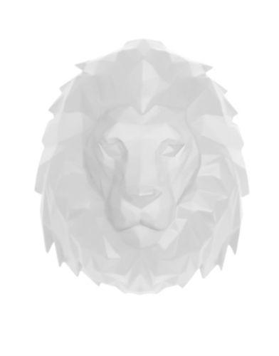 Aniwall-Origami-Lion-White-01
