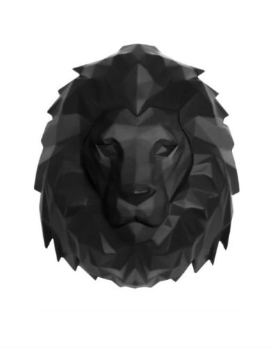 Aniwall-Origami-Lion-Zwart-01