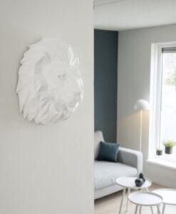present time origami leeuw wit muurdecoratie