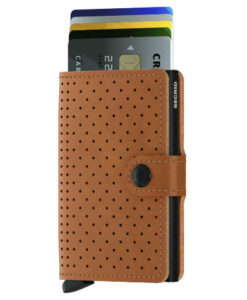 Secrid Miniwallet Portemonnee Perforated Cognac
