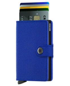 Secrid Miniwallet Portemonnee Crisple Blue Black