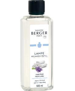 Fresh Linen maison lampe berger 500ml navulling huisparfum brander