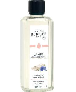 Linen Blossom maison lampe berger huisparfum navulling brander 500ml