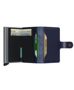 Secrid Miniwallet Portemonnee - Metallic Blue cardprotector cardslider pasjes kaartenhouder briefgeld muntgeld