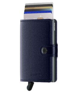 Secrid Miniwallet Portemonnee - Metallic Blue pasjes kaartenhouder