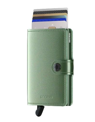 Secrid Miniwallet Portemonnee - Metallic Green pasjes kaartenhouder