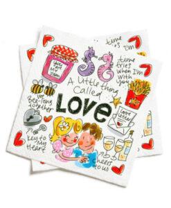 blond amsterdam love valentine's day valentijnsdag servetten 20 stuks