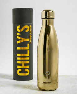 chilly's bottles chrome edition goud gold 500ml