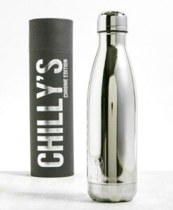chilly's bottles chrome edition silver zilver 500ml