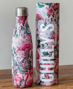 chillys bottles flamingo 500ml tropical edition roze sfeer productfoto