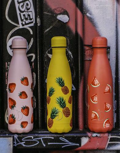 chillys bottles icons edition 500ml strawberry aardbei pineapple ananas watermelon watermeloen