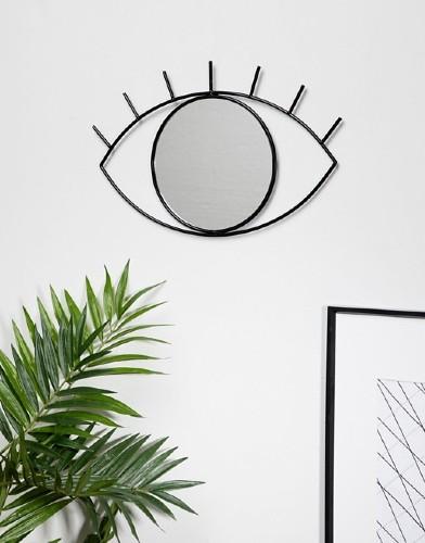 cyclops doiy wall mirror muurspiegel zwart sfeer