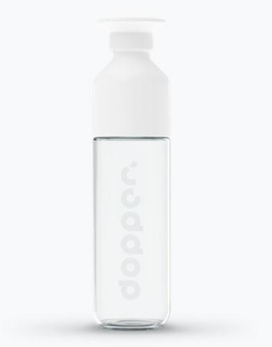 dopper glass 400ml glazen drinkfles waterfles