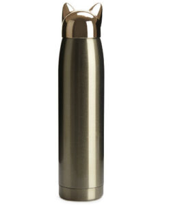 thermos cat gold stainless goud kat 320ml balvi
