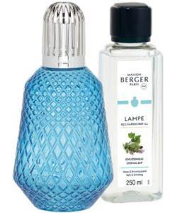 Lampe Berger Giftset Matali Crasset Blauw model brander bleue eternal sap