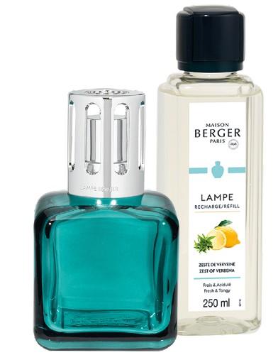 Lampe Berger Glaçon Verte Giftset ice cube ijsklontje groen blauw zest of verbena