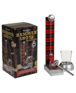 hammer shots hamer shotglas out of the blue drankspel doos