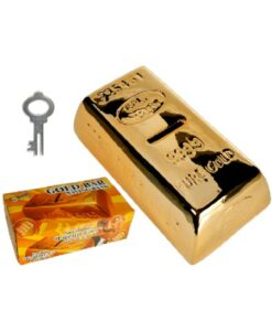 out of the blue ceramic gold bar keramische spaarpot goudstaaf met sleutel set