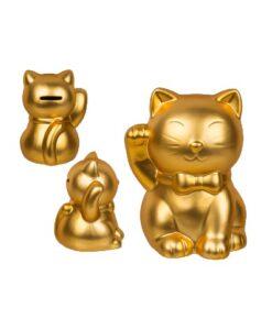 out of the blue lucky cat gouden kat spaarpot