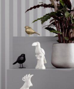 present time statue bird small origami vogelbeeldje polyresin huisdecoratie