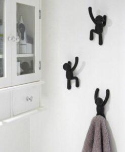 umbra buddy hooks set van 3 wandhaken kapstok zwart sfeerfoto