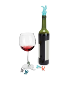 umbra drinking buddy charms and topper wijnstop mannetjes