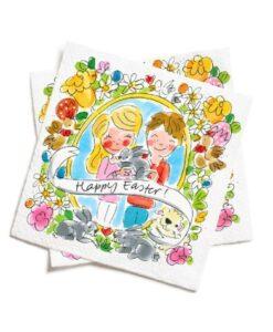 Blond Amsterdam - Happy Easter Servetten (set 20 stuks) paascollectie happy easter