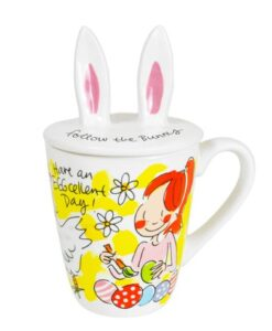Blond Amsterdam Paascollectie 3D Mok Kip deksel bunny konijn oortjes