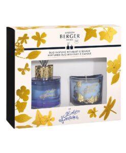 Lampe Berger Lolita Lempicka Duo Giftset Parfumverspreider En Kaars Paars 80ml 80gr huisparfum verpakking