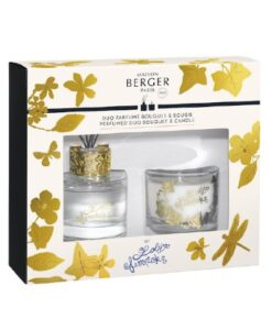 Lampe Berger Lolita Lempicka Duo Giftset Parfumverspreider En Kaars Transparant 80ml 80gr huisparfum verpakking