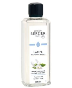 Maison lampe berger huisparfum brander navulling delicate white musk 500ml