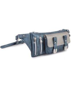 Noi-Noi Lentecollectie - Fausta Heuptas fanny pack bum bag blauw blue zijkant