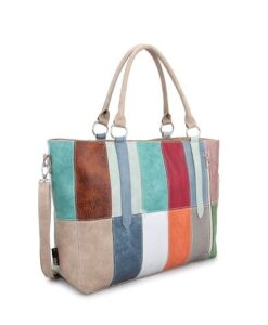 Noi-Noi Lentecollectie Rainbow Schoudertas Shopper multicolor zijkant