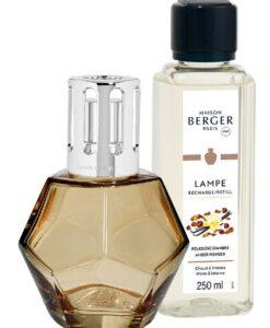 maison Lampe Berger Geometry Giftset kubisme brander navulling huisparfum amber powder oranje