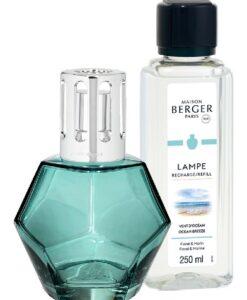 maison Lampe Berger Geometry Giftset kubisme brander navulling huisparfum ocean breeze Blauw