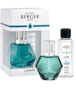 maison Lampe Berger Geometry Giftset kubisme brander navulling huisparfum ocean breeze Blauw met verpakking