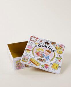 Blond Amsterdam Even Bijkletsen Koekblik - Cookies open deksel goud