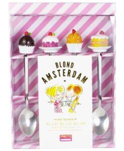 Blond Amsterdam - Set Van 4 Theelepels even bijkletsen servies