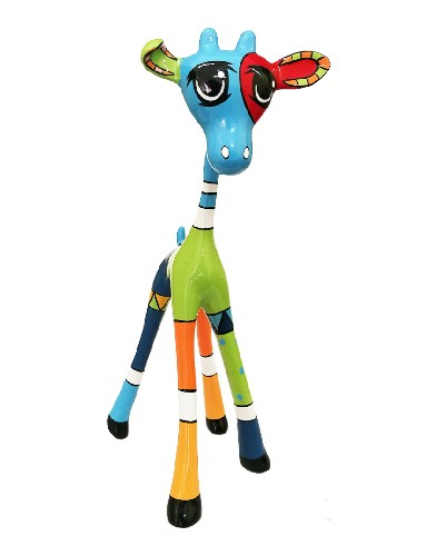 Didi Diaz Noah Giraffe Blue Arteaux Art & Design kunsthars