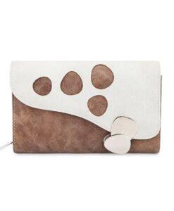 Hi-Di-Hi Lentecollectie - Bay Portemonnee wallet zeemeermin mermaid koraal schelp brown bruin wit voorkant