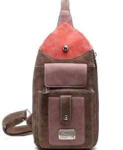 Hi-Di-Hi Lentecollectie - Catch Schoudertas Heuptas bum bag crossbody bag brown bruin voorkant