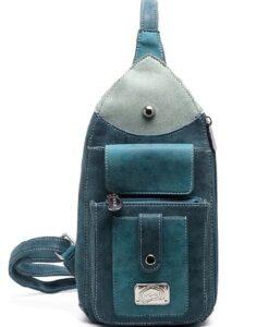 Hi-Di-Hi Lentecollectie - Catch Schoudertas Heuptas bum bag crossbody bag petrol blauw voorkant