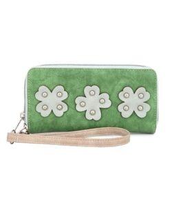 Noi-Noi Lentecollectie - Fortuna Portemonnee wallet klavertjes vier clover fair trade green groen voorkant