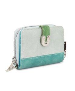 Noi-Noi Lentecollectie - Penny Portemonnee fair trade wallet konijn bunny zilver blauw mint groen zijkant