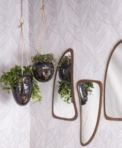 Present Time Hangende Wandvaas Masker - Lang rond