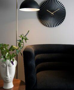 Present Time Vaas Masker Lang bloempot woondecoratie azteeks plantenbak wit sfeerbeeld