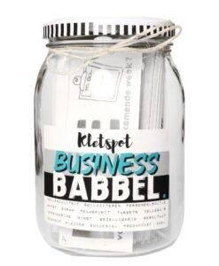 kletspot business babbel klets overleg collega's werknemers werkplek ontspanning succesvol ondernemen
