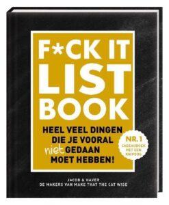 F_CK-it list book heel veel dingen die je vooral (niet) gedaan moet hebben jacob en haver