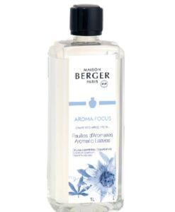 maison lampe berger paris aroma focus feuilles d'aromates aromatic leaves navulling brander huisparfum 1 liter