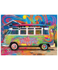 Volkswagen Puzzel Tin Box 550 stukjes blik vw eurographics wave hopper poster